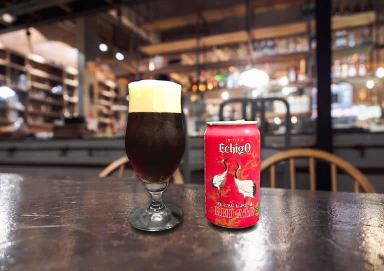 美しい深紅色のエールビール。「エチゴ プレミアム レッドエール」
