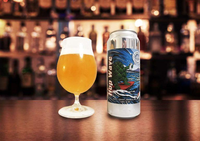 West Coast Brewing「Hop Wave」ホップの強烈な波が押し寄せる スッキリガツン系のダブルIPA