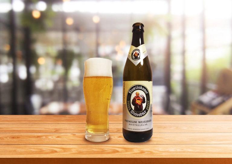 フランツィスカーナー「ヴァイスビール クリスタル」黄金色に輝くクリアな仕上がりのクリスタルヴァイツェン